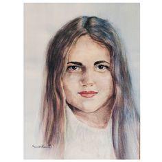 Aquarell pastel portrait, Simonette Norum