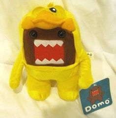 """Domo-Kun in Chick Costume Plush Doll -10 Inch Plush-New with Tags! It Features a Domo-Kun in Chick Costume Plush Doll - Approximately 10"""" High Japanense Radio Mascot of NHK Brown Domo-Kun 10"""" Plush do"""