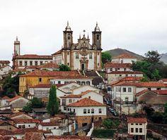 Vista geral de Ouro Preto (Foto: Bruno Girin)