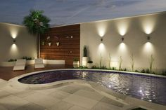 The Small Pool Patio Diaries 91 - Pecansthomedecor Backyard Pool Designs, Pool Landscaping, Backyard Patio, Kleiner Pool Design, Small Pool Design, Modern Garden Design, Small Pools, Exterior Design, Swimming Pools