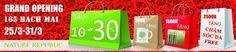 Khuyến mãi 2015 Nature Republic giảm tới 30% và tặng quà nhân dịp khai trương