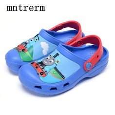 Boy Kids Mules And Clogs Thomas Hole Protect Toes Thomas Shoes 8372ac38177