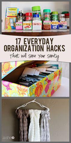 17 Organization Hacks To Save Your Sanity (HowDoesShe? Crafts For Teens To Make, Diy And Crafts, Easy Crafts, Shoe Storage Solutions, Organizing Your Home, Organizing Tips, Organising, Dollar Store Crafts, Getting Organized
