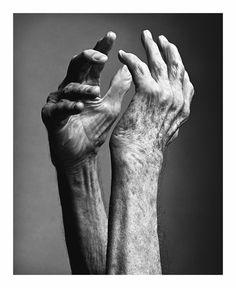 The hands of a dancer & choreographer. Merce Cunningham, 2009 _ by Mark Seliger