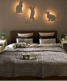 Светильник-кошки в спальню своими руками