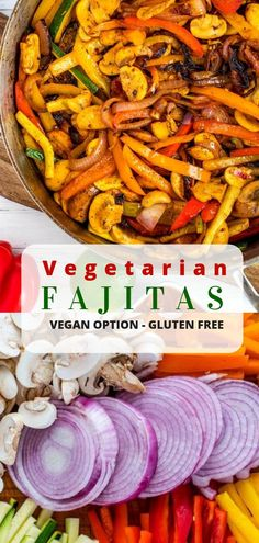 Vegetarian Fajitas Looking for an easy way to add veggies to your diet? These easy Vegetarian Fajitas will become your go-to recipe! With meaty mushrooms, onions, peppers, and zucchini in a zesty marinate, this gluten-free dish is a crowd-pleaser. Vegetarian Fajitas, Tasty Vegetarian Recipes, Veg Recipes, Cooking Recipes, Healthy Recipes, Vegetarian Italian, Italian Cooking, Vegetarian Lunch, Recipies