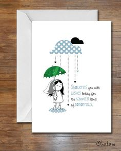 29 best bridal shower cards images on pinterest umbrella cards umbrella bridal shower greeting card by hollydraws m4hsunfo