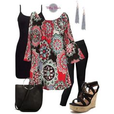 (pre-order) Set 521: Bright Black Medallion Tunic (shoes & bag sold separate)