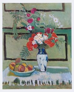 Art Print: Still Life, Flowers and Fruit Art Print by Henri Matisse by Henri Matisse : 24x19in