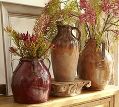 Sicily Terra Cotta Vase, Large, Cranberry