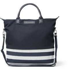 WANT Les Essentiels de la Vie O'Hare Leather-Trimmed Panelled Canvas Tote Bag | MR PORTER