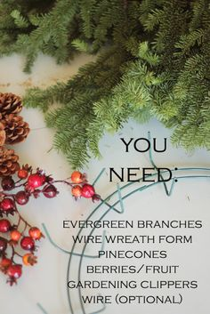 Evergreen Wreath DIY - girl. Inspired.