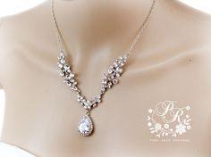 Wedding Teardrop Necklace ETSY $38 - vintage wedding necklace