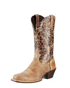 Ariat Women's Legend Boot - Shattered Tan/Leopard Print