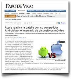 Hablando sobre los anuncios de Apple en la WWDC 2013, en Faro de Vigo