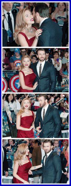 Scarlett Johansson and Chris Evans - Captain America: The Winter Soldier. OMF i ship them!