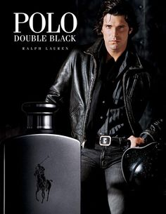 Nacho Figueras is a dashing figure in leather for Polo Ralph Lauren Double Black.