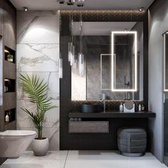 Master bathroom designs that feature creative bathroom layouts, modern bathroom furniture designs & beautiful bathroom accessories, plus bathroom decor tips. Modern Bathroom Design, Bathroom Interior Design, Bathroom Designs, Bathroom Ideas, Modern Bedroom, Modern Toilet Design, Shower Ideas, Modern Bathroom Accessories, Modern Design