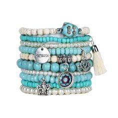 Beaded Stacked Bracelet - Buddha Bracelets - Set of 10 – Bohemian Bracelets Bohemian Bracelets, Braided Bracelets, Stretch Bracelets, Bracelets For Men, Handmade Bracelets, Boho Jewelry, Beaded Jewelry, Stacking Bracelets, Colorful Bracelets