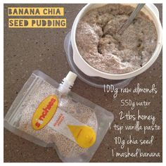 Banana and Chia seed Pudding - This is delicious, healthy and so easy to make. You can have it for dessert or a snack!