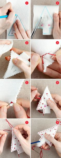 Christmas felt crafts | christmas crafts: felt holiday ornaments + free ornament templates ...