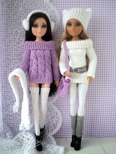 crochet barbie doll clothes for beginnersNo pattern but could adapt another one. Barbie Knitting Patterns, Knitting Dolls Clothes, Barbie Patterns, Doll Clothes Patterns, Crochet Barbie Clothes, Doll Clothes Barbie, Barbie Dress, Knitted Dolls Free, Crochet Toys