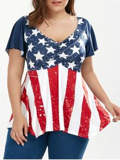 GET $50 NOW | Join RoseGal: Get YOUR $50 NOW!http://m.rosegal.com/plus-size-t-shirts/patriotic-plus-size-american-flag-1139454.html?seid=99v3bpv6mk7op5gp4kg02cut87rg1139454