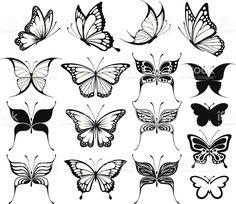 Schmetterlinge Silhouetten Lizenzfreies vektor illustration