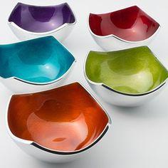 cuencos decorativos de colores