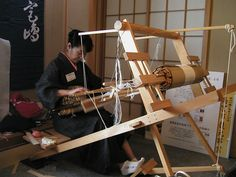 Japanese backstrap loom