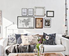 Frames Pillows & Lightbulbs To Decorate Living  Via...