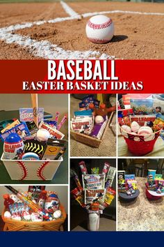 Baseball Easter Basket Ideas: Fill your players Easter basket with all their baseball season needs! basket ideas cricut Baseball Easter Basket Ideas - A Grande Life Easter Gifts For Kids, Easter Crafts, Diy For Kids, Baseball Gift Basket, Homemade Easter Baskets, Easter Party, Easter Subday, Ukrainian Easter Eggs, Easter Peeps