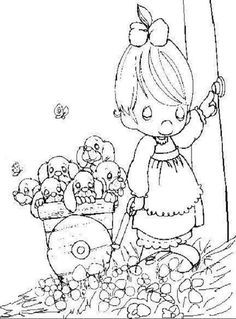Free Precious Moments Coloring Pages