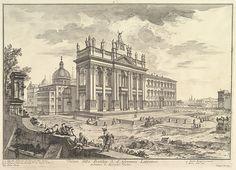 Giovanni Battista Piranesi | S. Giovanni in Laterano, main façade, with Palace and Scala Santa on the right (Veduta della Basilica di S. Giovanni Laterano) | The Met