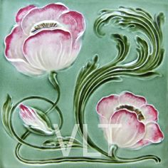 Art Nouveau Reproduction Tile #75, from Villa Lagoon Tile