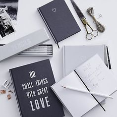 Heart Notebook - A6 Grey | The White Company