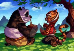 Just in love with kung fu panda again, the second movie is fantastic. Hope in the third we will see a beginning of romance between Po and Tigress. lumic4.deviantart.com