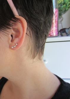 Ear pin. Love this look, and its super easy!