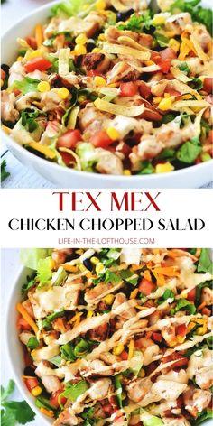 Best Salad Recipes, Salad Recipes For Dinner, Dinner Salads, Healthy Recipes, Delicious Salad Recipes, Mexican Salad Recipes, Tex Mex Salad Recipe, Healthy Salads For Dinner, Yummy Dinner Ideas