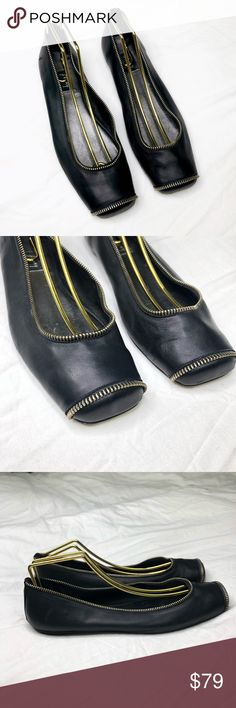 964251ef525 Shop Women s fs ny Black Gold size Flats   Loafers at a discounted price at  Poshmark. Description  fs ny French Sole New York
