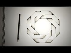 Optical Illusions - How To Draw Twisted Octagon - YouTube