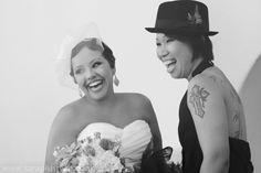 Brides laughter - Sara + Ryan