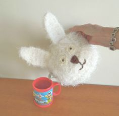 Hand made bunny rabbit tea cosy. Fits by CraftyCornishMaids
