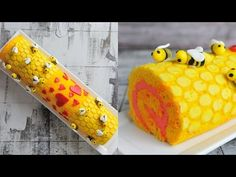 Valentine's Day Bee Mine Cake Roll was really fun to make. I this video I show you step by step how to create honey comb design on the cake. You'll learn how...