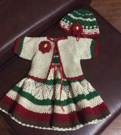 Baby Crochet Quot Christmas Dress Quot Pattern By Halina Matson