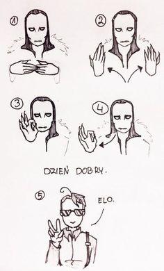 Sign language with Soren and Kaz 1: GOOD MORNING by GRKaterina.deviantart.com on @DeviantArt