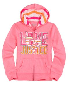 Brand Stripe Fleece Sweatshirt | Girls Sweatshirts Clothes | Shop Justice
