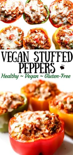 The Best Vegan Stuffed Peppers! The Best Vegan Stuffed Peppers! These classic vegan stuffed peppers are as delicious as they are pretty. Whether you are making a fancy dinner or prepping easy weeknight meals these stuff peppers are the answer! Tasty Vegetarian Recipes, Vegan Dinner Recipes, Vegan Recipes Easy, Whole Food Recipes, Cooking Recipes, Yummy Vegan Meals, Best Vegan Meals, Easy Vegan Food, Cooking Pasta