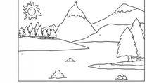 Un paisaje pirenaico, con abetos, montañas y lagos