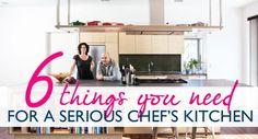 serious chef's kitchen